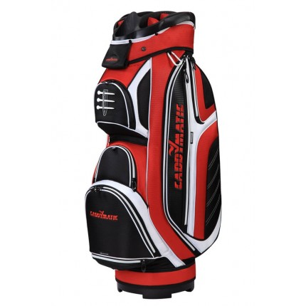 Caddymatic Cart Bag Black/Red/White