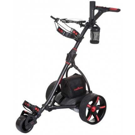 Caddymatic V2 Electric Golf Trolley / Cart with Upgraded 36 Hole Battery With Auto-Distance Functionality - Black