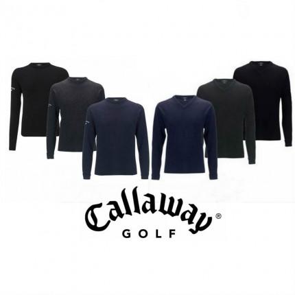 Callaway 100% Lambswool Crew Neck sweater Blk