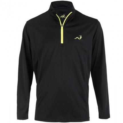Woodworm 1/4 Zip Golf Pullover - Black/Neon