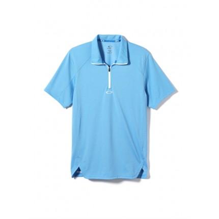 Oakley Golf Mens Zip-It Polo Shirt – Blue