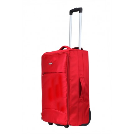"Swiss Case 24"" Lightweight Folding Suitcase Red"