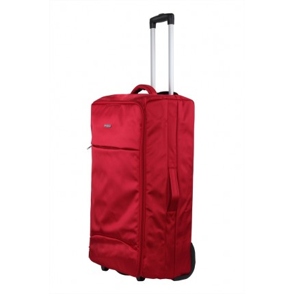 "Swiss Case 28"" Lightweight Folding Suitcase Red"