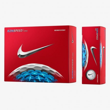12 Nike RZN Speed Red Golf Balls (White Colour)