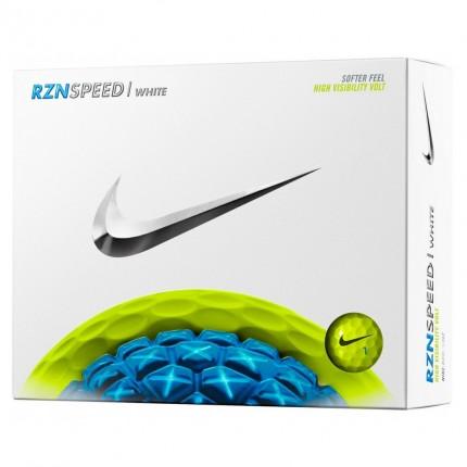 12 Nike RZN Speed White Golf Balls - Volt