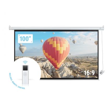"""EX-DEMO Homegear 100"""" 16:9 HD/3D Electric Projector Screen"""