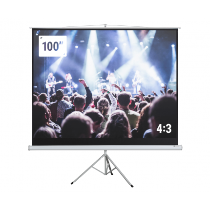 "EX-DEMO Homegear 100"" HD 4:3 Tripod Projector Screen"