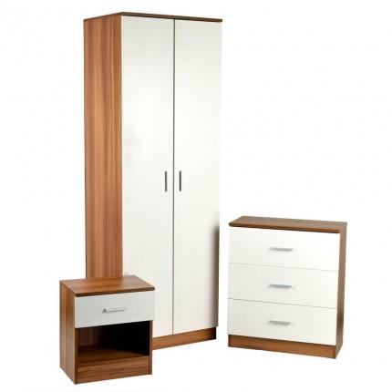 Homegear 3 piece Bedroom Furniture set  White