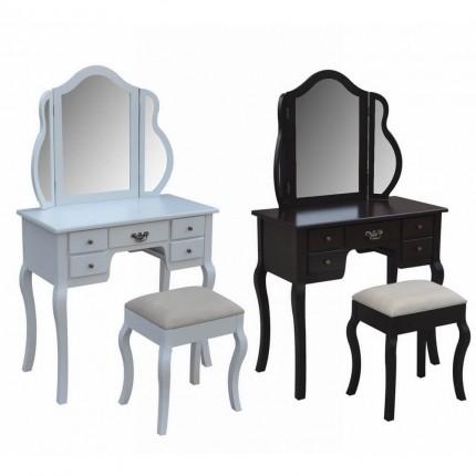 Homegear Venetian Dressing Table & Stool Set