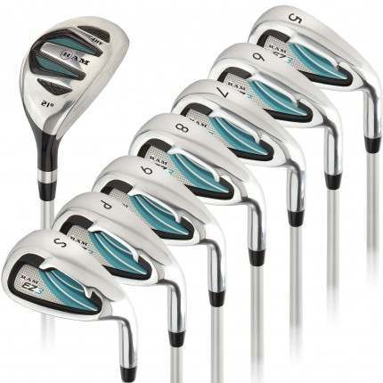 Ram Golf EZ3 Ladies Right Hand Iron Set 5-6-7-8-9-PW-SW - HYBRID INCLUDED