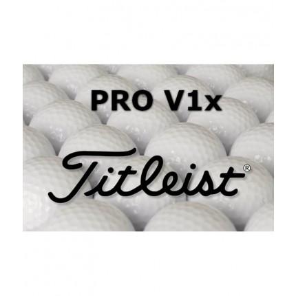 6 x 12 Titleist Pro V1x Lake Balls - Grade AAA