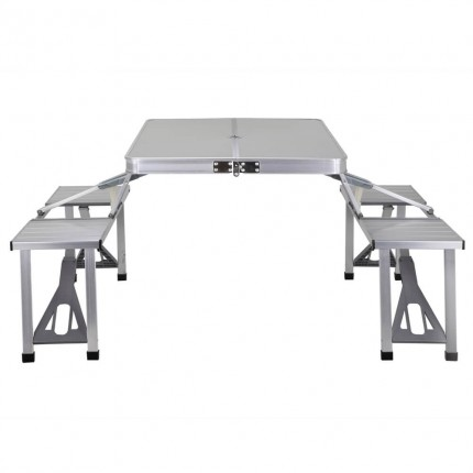 Palm Springs Portable 4 Person Aluminium Table Set