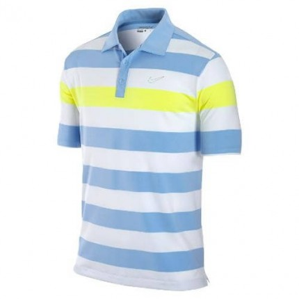 Nike Mens Bold Chest Stripe Polo Neptune Blue