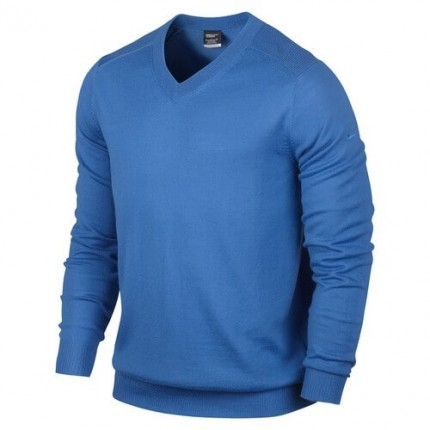 Nike Performance VNeck Merino Sweater Blue