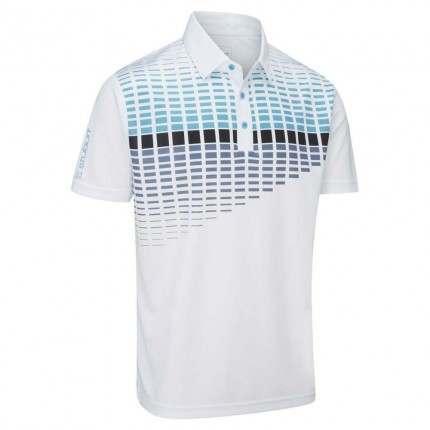 Stuburt 2018 Endurance Block Polo Shirt White Blue