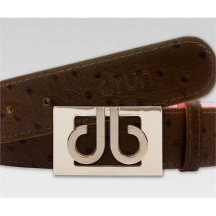 Druh Tour Ostrich Leather Belt