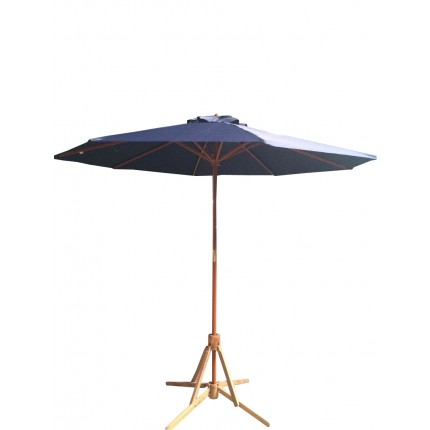 EX-DEMO Palm Springs 2.7m Wooden Garden Parasol Umbrella