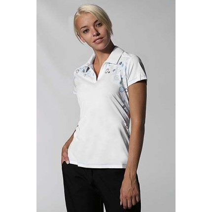 Ashworth Ladies Climalite Starburst Print Polo