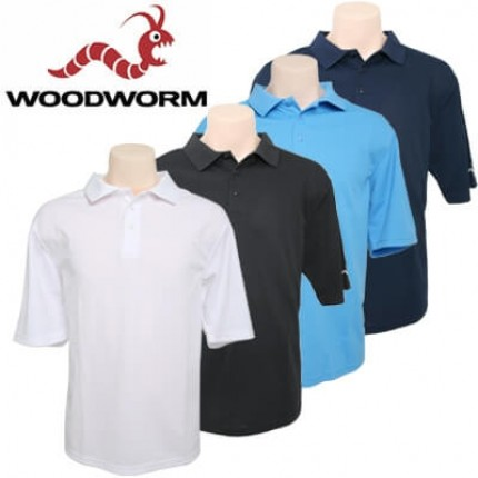 Woodworm Plain Golf Polo 4 pack