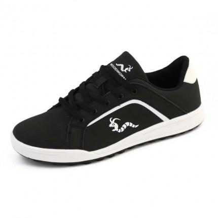 Woodworm Golf Surge V3 Mens Waterproof Golf Shoes Black/White