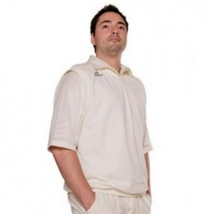 Woodworm Cricket Short Sleeve Men's Sweater White