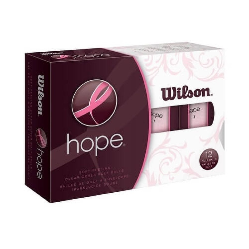 6 x 12 Wilson Hope Hot Pink Ladies Golf Balls
