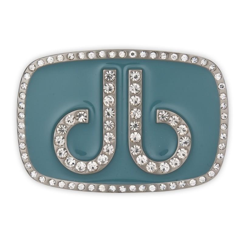 Druh Diamante Oval Buckle - Aqua