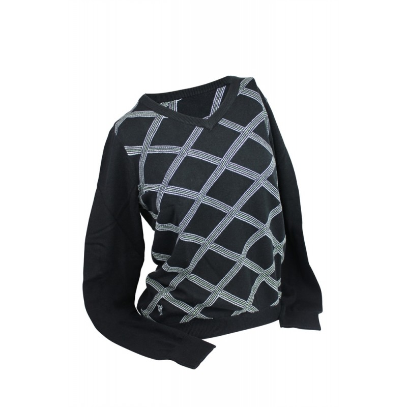 Ashworth Ladies Criss Cross V-Neck Sweater