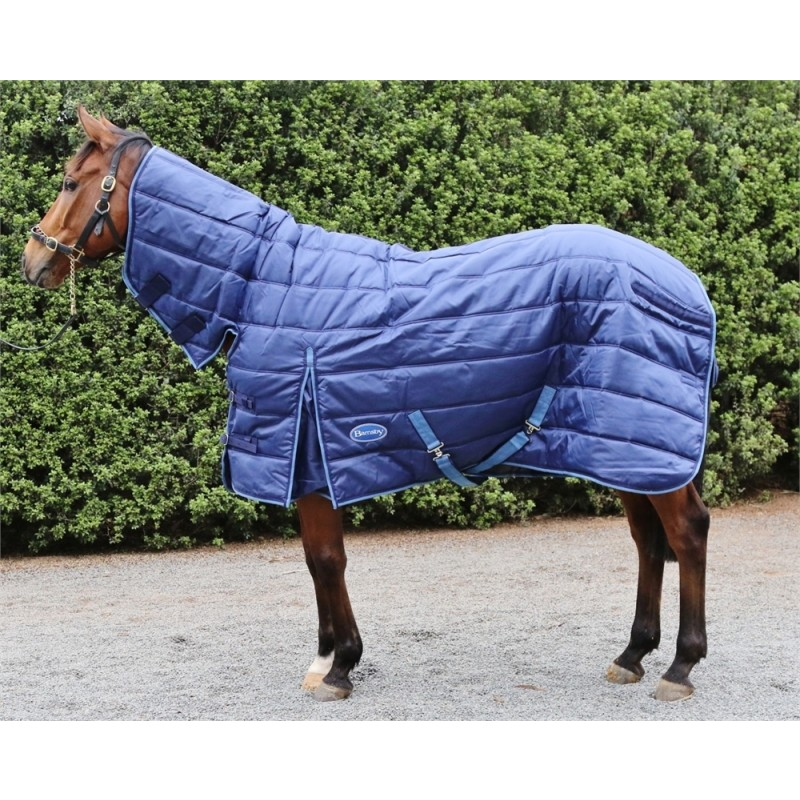 Barnsby 420D Equestrian Horse Stable Rug / Blanket - With Neck Combo Navy