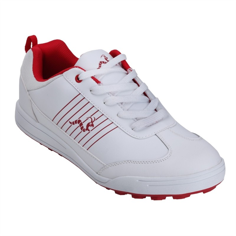 Woodworm Surge Golf Shoes - White / Red