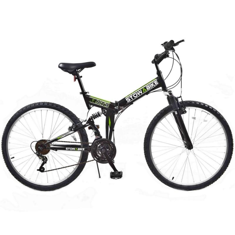 Ex-Demo Stowabike Folding MTB V2 Mountain Bike Black / Green