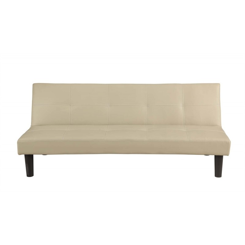 Homegear Faux Leather Sofa Bed Cream