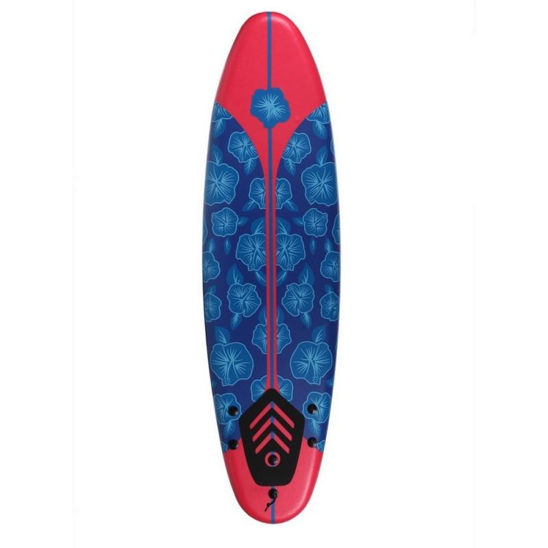 North Gear 6ft / 182cm Foam Surfboard Blue / Red