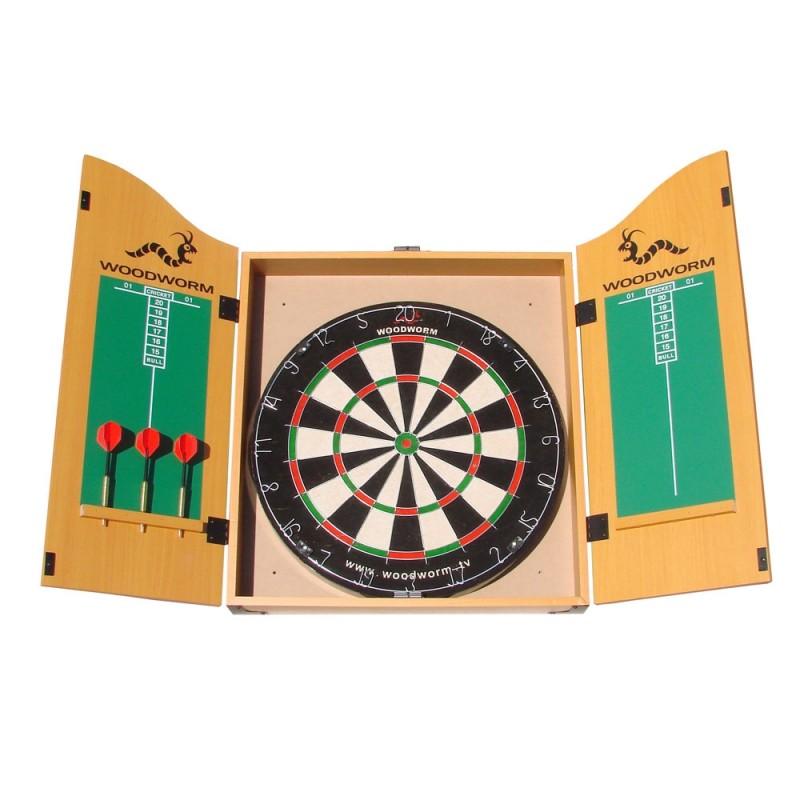 Woodworm Classic Darts Set w/ Bristle Board