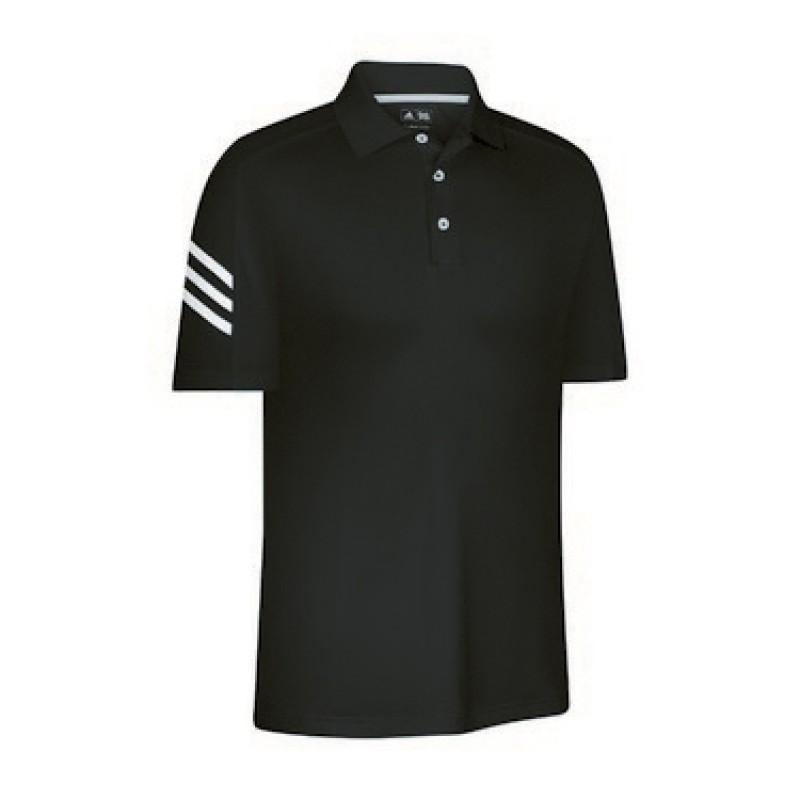 Adidas Mens ClimaCool 3 Stripe Polo