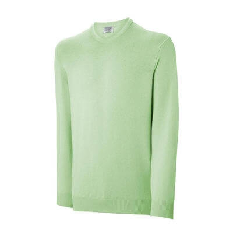 Ashworth Mens Lambswool V Neck Sweater Kiwi