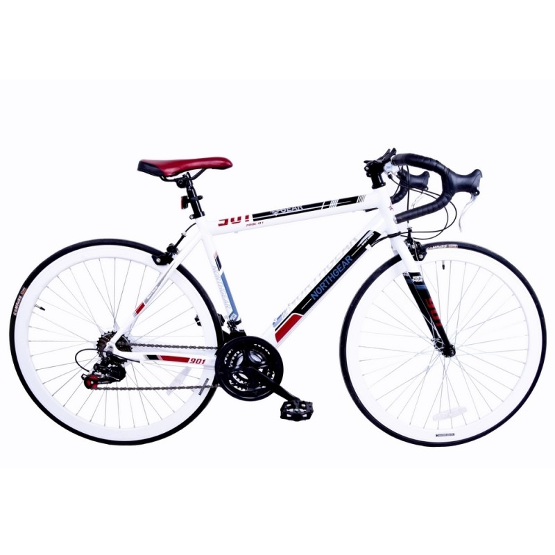 EX-DEMO North Gear 901 Road Bike with Shimano Components White / Red