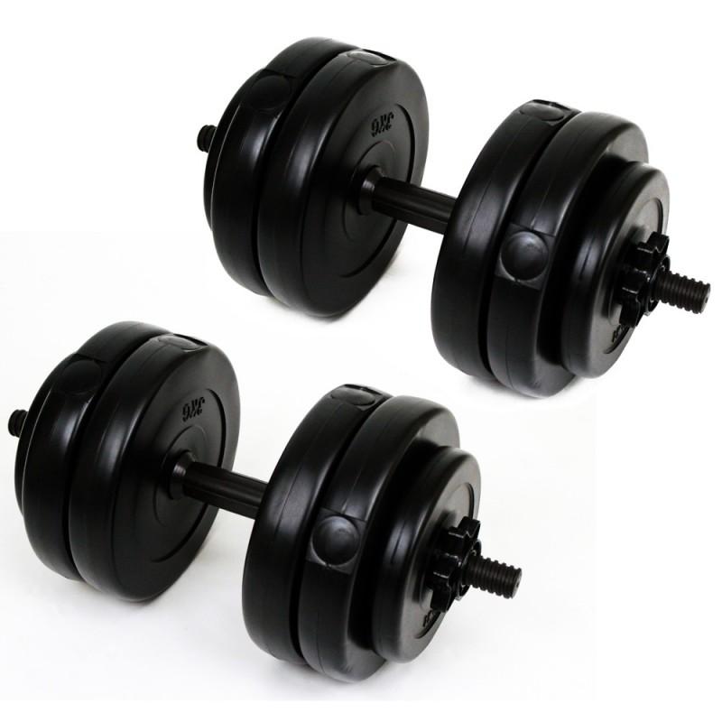 Palm Springs 30kg Vinyl Dumbbell Weight Set Black