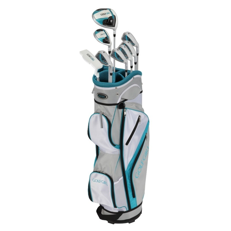 GolfGirl FWS3 Ladies Complete All Graphite Golf Clubs Set with Cart Bag Lefty