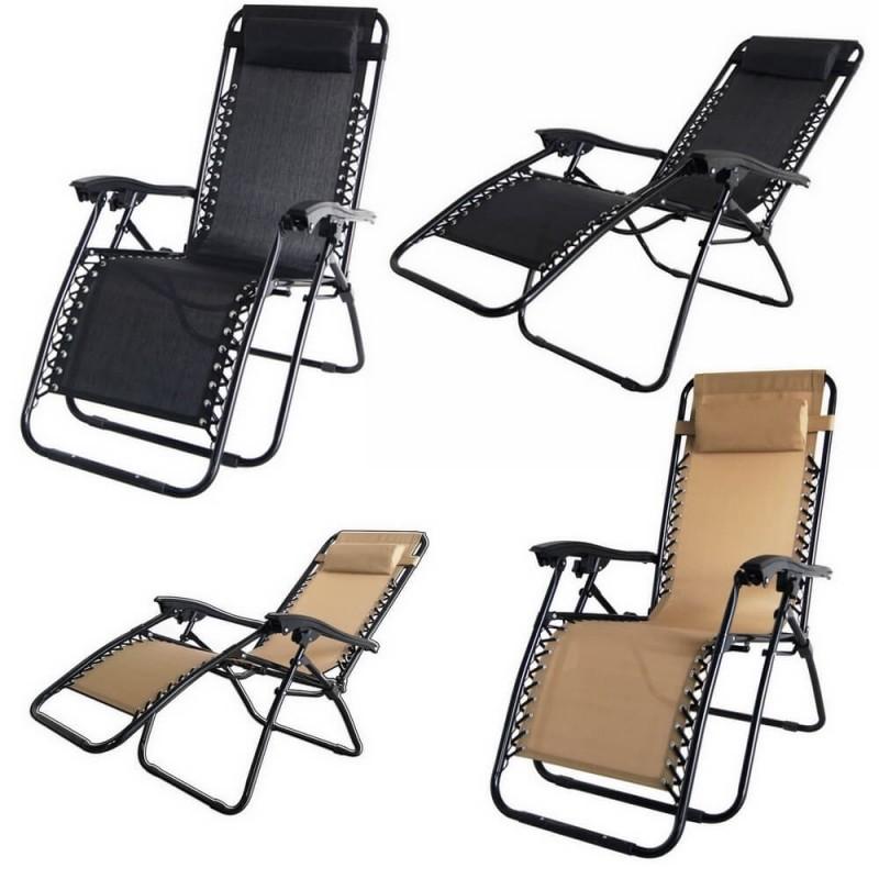 2 Palm Springs Folding Zero Gravity Garden Chair