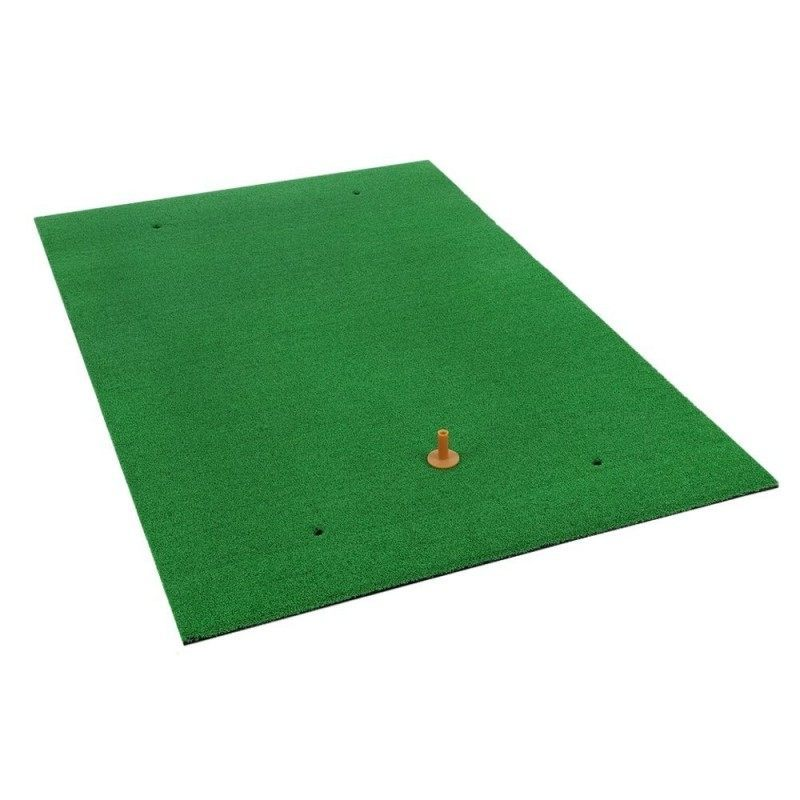 Ram Golf Premium XL Practice Hitting Mat 1 x 1.5m - Realistic Synthetic Grass with Shock Absorbing EVA Rubber Base