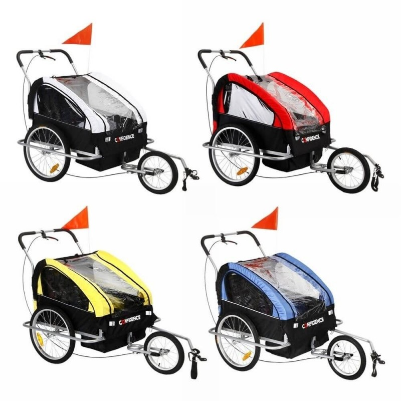 EX-DEMO Confidence 2 in 1 Baby Bike Trailer w/ Suspension