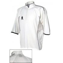 CA Micro Mesh Plus Cricket Shirt - White / Burgundy