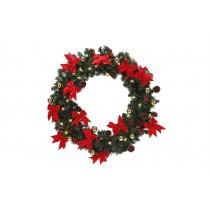 Homegear 60cm Christmas Wreath With Lights