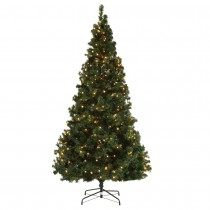 Homegear Deluxe 7.5ft Artificial Christmas Tree with Metal Stand - Prelit with 550 LED Lights