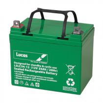 Stowamatic by Lucas 12V 34aH Electric Golf Trolley Battery