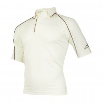 Woodworm Cricket Shirt MAROON TRIM