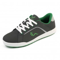 Woodworm Golf Surge V3 Mens Waterproof Golf Shoes Grey/Green