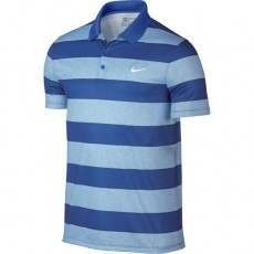 Nike Golf Modern Fit Victory Bold Stripe Polo - Blue