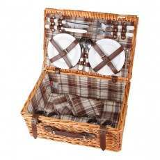 Confidence 4 Person Wicker Picnic Hamper